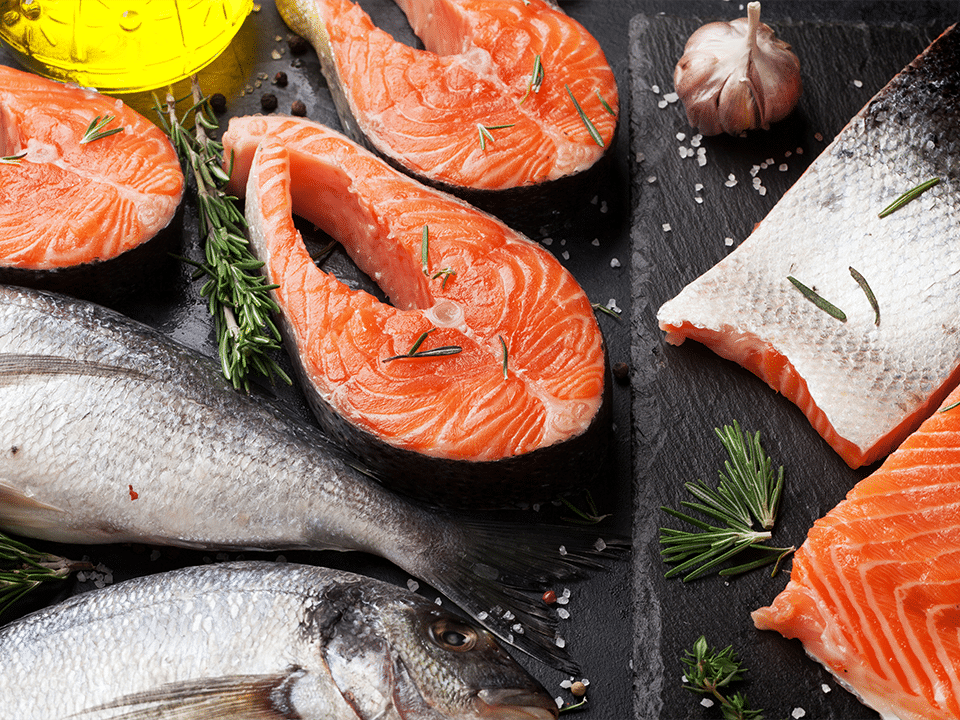 Fresh Salmon contains high levels of protein